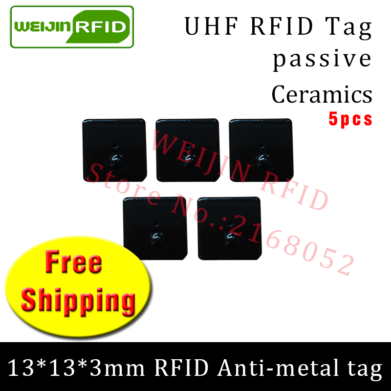 UHF RFID metal tag 915mhz 868mhz Alien Higgs3 EPC 5pcs free shipping 13*13*3mm small square Ceramics smart passive RFID tags hw v7 020 v2 23 ktag master version k tag hardware v6 070 v2 13 k tag 7 020 ecu programming tool use online no token dhl free