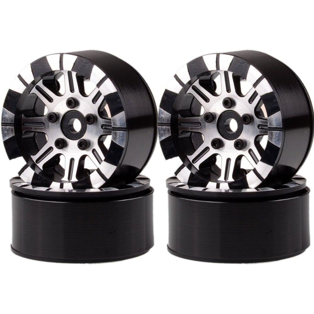 Aluminum 1.9 Beadlock Rims 1069 For RC 1/10 Rock Crawler TRAXXAS D90 TRX-4 TRX4 mxfans black aluminum alloy 8271 1 upgrade parts wheel rims for traxxas trx 4 rc 1 10 rock crawler car pack of 4