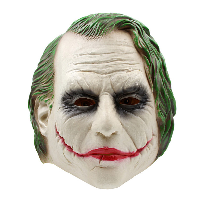 Adult Latex Full Head Movie Batman Clown Masks Costumes Cosplay For Funny Carnival Halloween Party Props Drop Shipping