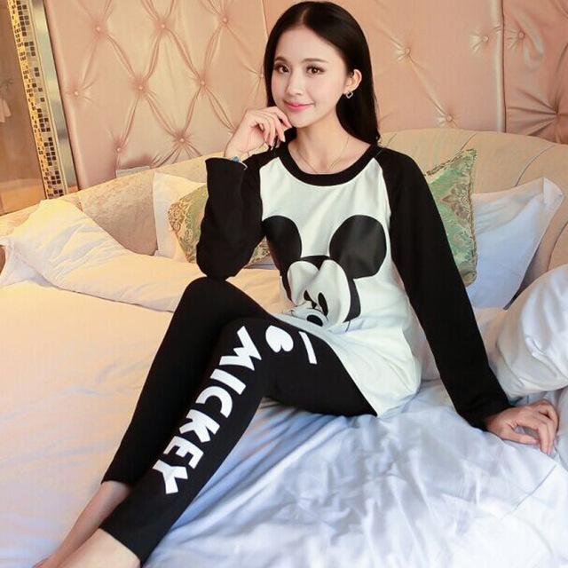 Entero de algodón Pijama Pijama Pijamas Para Las Mujeres Femme Feminino Pijama Casa Ropa de Las Mujeres Pijamas Pijama Mujeres Pigiami