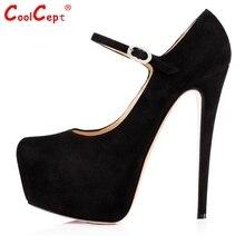 Women High Heel Pumps High-quality Fashion Platform Thin Heels Pumps Woman Sexy Ankle Strap Footwear Shoes Size 35-46 B093