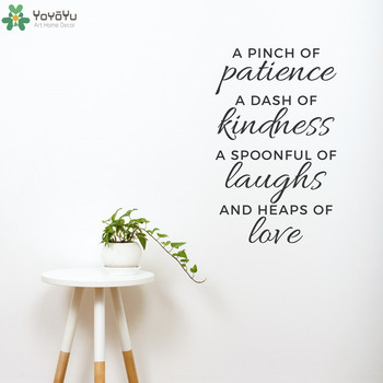 Inspirational Wall Decal Quotes Pinch of Patience Vinyl Wall Stickers Removable Home Decor Kitchen Interior Window Mural SY224 1