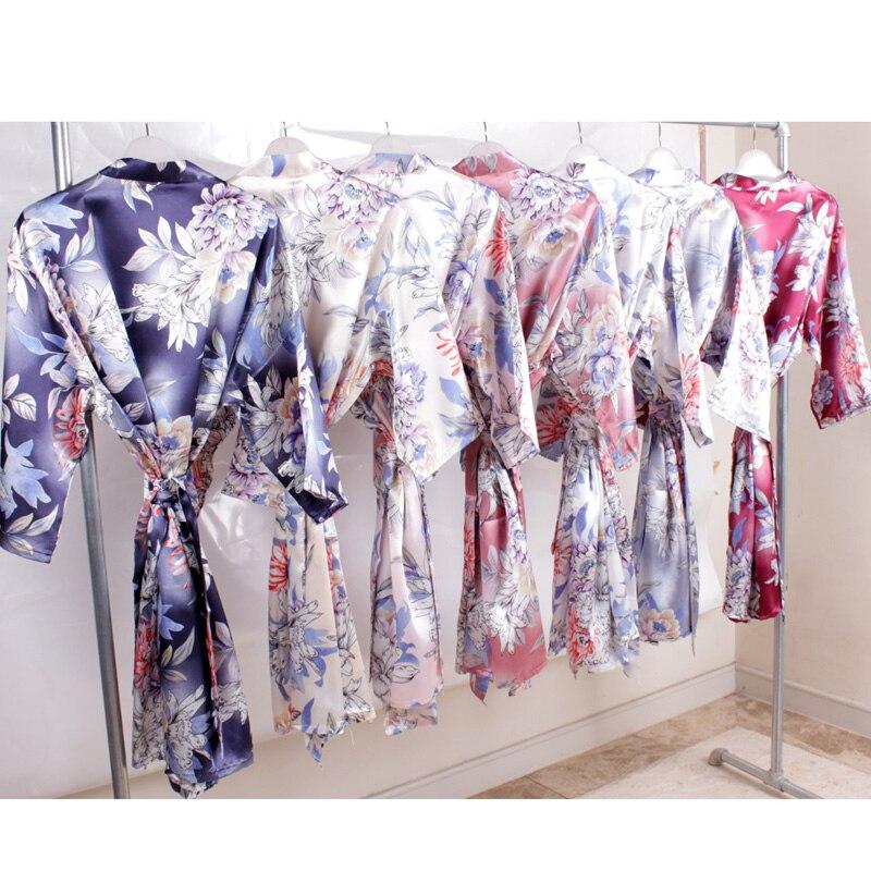 Silk Robe  Bridal Robe Lady  Bridesmaid Robes Bride Robes A2340