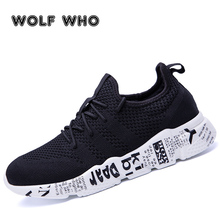 WOLF WHO Woven Man Casual Shoes Breathable Male Sneakers Tenis Masculino Shoe Zapatos Hombre Sapatos Plus Size walk shoes W-029