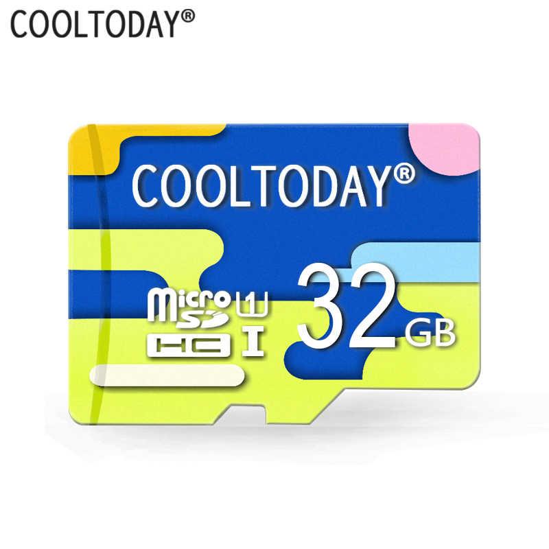 Cooltoday Четырехцветная трендовая Высококачественная Micro SD карта 8 Гб 16 Гб 64 Гб класс 10 водонепроницаемая карта памяти 32 Гб новая TF карта для телефона