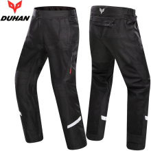 DUHAN summer men street riding motorcycle pants automobile race pants breathable mesh motorcycle Trousers with knee guards