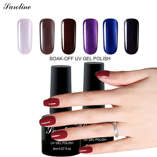 Saroline Semi permanent 8ML Nude Nail Polish Professional Nail Gel ...