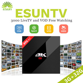 1 Year IPTV Include H96 IPTV BOX H96Pro+ Android 7.0 IPTV BOX 3/32G S912 IPTV Spain UK Germany Italy Netherlands Sweden EXYU xxx Set-top Boxes