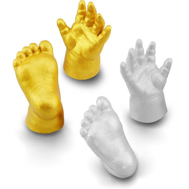 3d Footprint Baby Hand Baby Handprint Plaster Cast Powder+moulding Powder Casting Kit Handprint Keepsake Gift Memories Baby