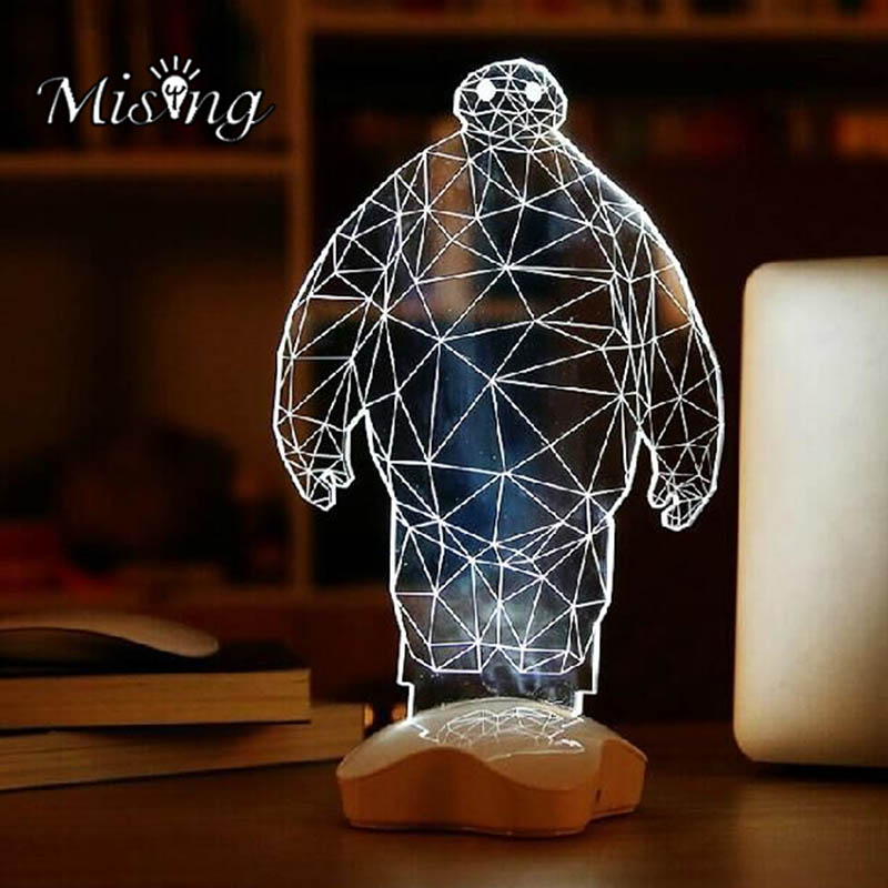 Mising 3D DIY String Lights Stereoscopic Projection Technology Three Dimensional White Flash Lamp Toys for Outdoor Garden Decor