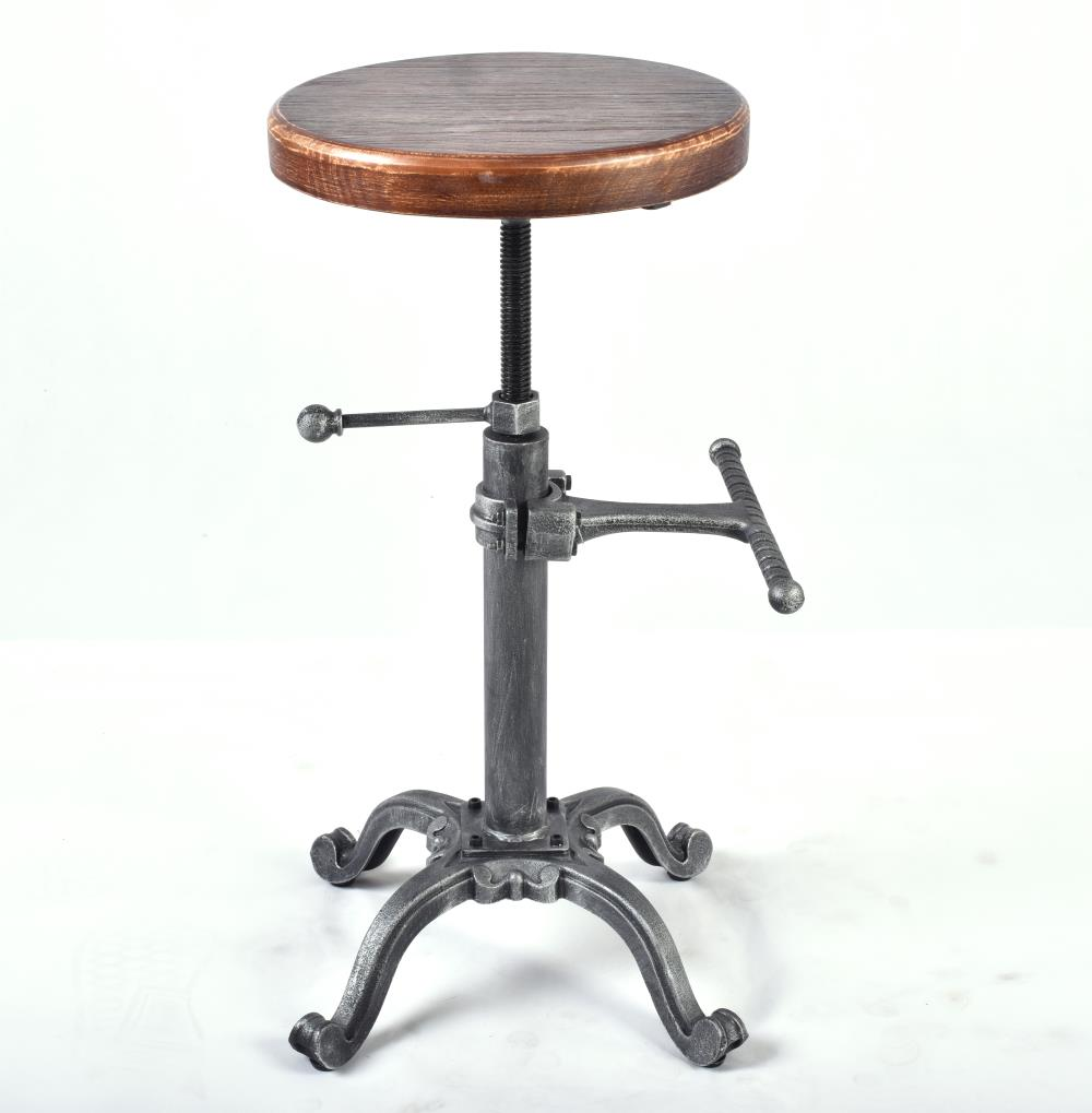 Fantastic Us 78 0 Metal Industrial Furniture Bar Stool Height Adjustable Swivel Pinewood Top Dining Chair Pipe Style Barstool Bar Stools In Bar Chairs From Machost Co Dining Chair Design Ideas Machostcouk