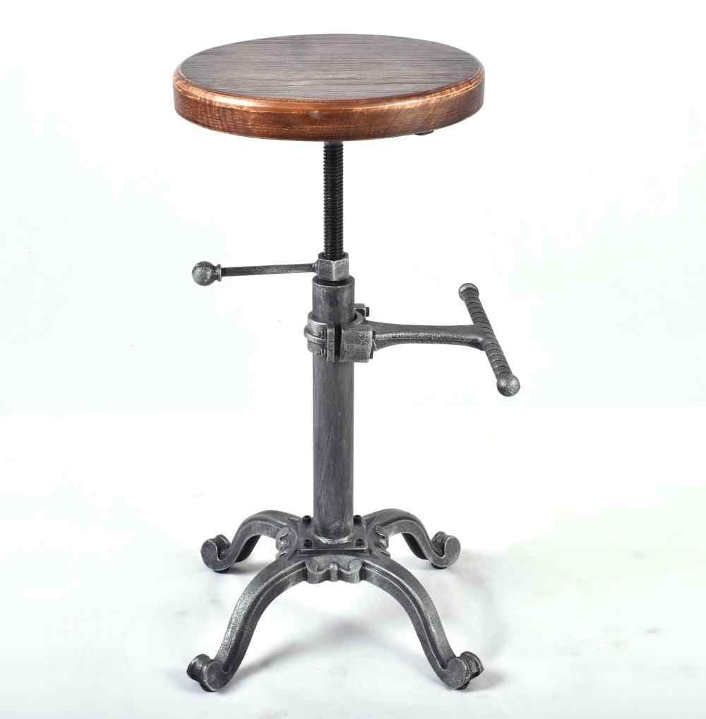 Sensational Metal Industrial Furniture Bar Stool Height Adjustable Evergreenethics Interior Chair Design Evergreenethicsorg