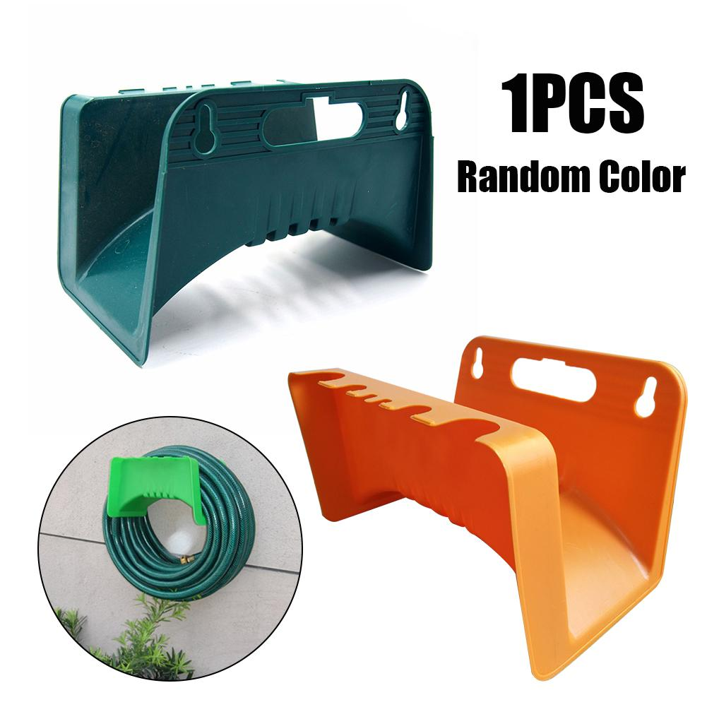 Heavy Duty Wall-Mounted Hose Hanger Holder Can Hang Plastic Hose Rack Gardening Tools Random Color Delivery