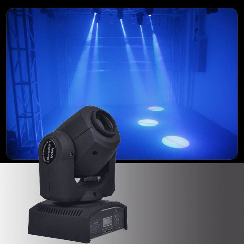 10W Mini Moving Head Spot Light Led Disco Dj Stage Dmx Spot Lamp Gobo Strobe Laser Effects Sound Activated Show Party Lighting