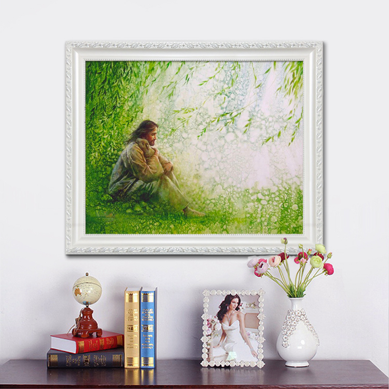 Posters and Prints of Jesus Christ Jesus Canvas Wall Art Pictures for living room Home Decor cuadros decoracion Oil painting 93 in Painting Calligraphy from Home Garden