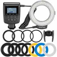 Travor RF-550D светодиодный Кольцевая вспышка для макросъемки с Flash light с 8 переходными кольцами для цифровой зеркальной камеры Nikon Canon Pentax Olympus ...