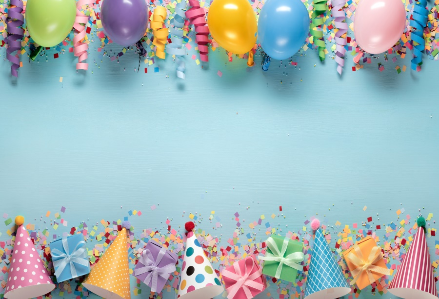 Laeacco Photo Backgrounds Balloons Ribbon Birthday Party Gift Celebration Baby Portrait Photo Backdrops Photocall Photo Studio in Background from Consumer Electronics