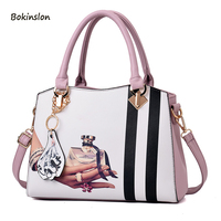 2018New PU Material Women's Handbag Fashion Trend Casual Big Bag Casual Shoulder Bag Messenger Bag