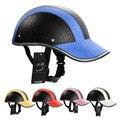 Мотоцикл Половина Шлем Защитные Шлемы Пробковый Шлем ABS Кожа Бейсболка Двигателя Унисекс 5 Цветов