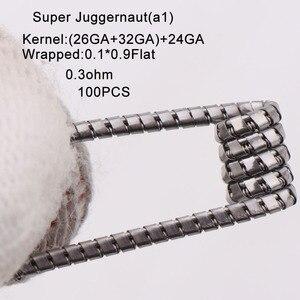 Image 5 - XFKM 100 pcs/pack Giant juggernaut coils Seper juggernaut Clapton coil Alien taiji super Clapton Heating Resistance rda coil