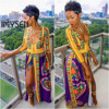 IMYSEN New Arrival Sexy Totem Dress Deep V Neck Long Women Printed Dresses Summer Autumn 3