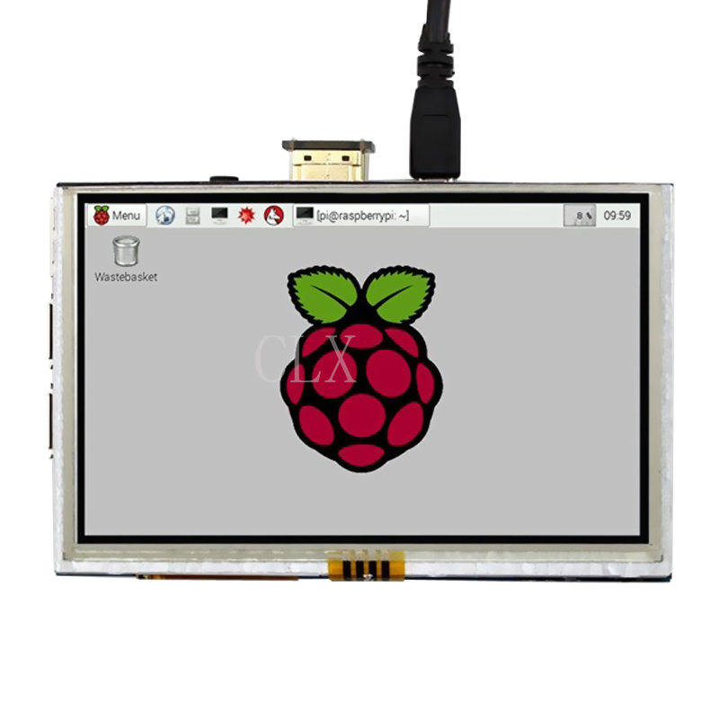 5 inch Raspberry Pi 3 LCD Touch Screen HDMI Interface Display Module TFT LCD 800*480 for Raspberry Pi 2 model B + Touch Pen waveshare raspberry pi 3 5 inch tft lcd resistive touch screen display module for any revision of raspberry pi 3 b 2 b b a