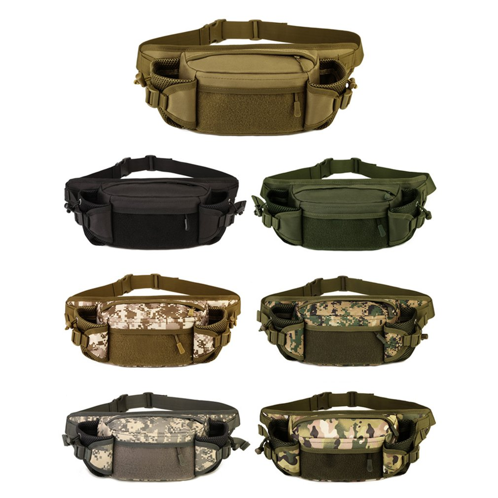 Protector Plus Tactical Waist Pack Bag Waterproof Phone Bag Water Bottle Pouch Unisex Chest Bag For Camping Hiking Hunting