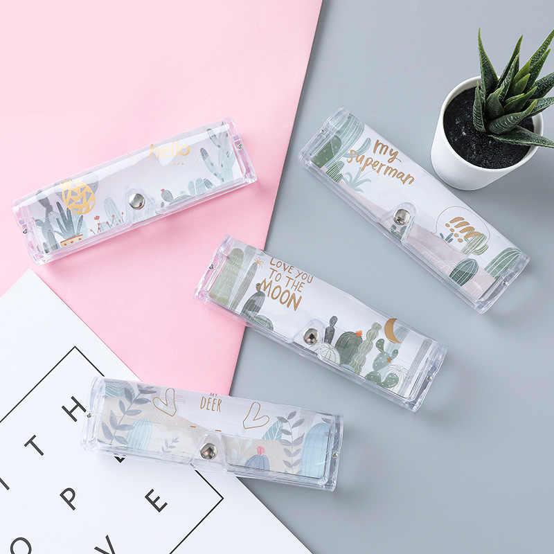 Luluhut Trasparente caso bicchieri di plastica Studente semplice scatola di immagazzinaggio occhiali Fold-in grado di occhiali box per occhiali da vista occhiali da sole