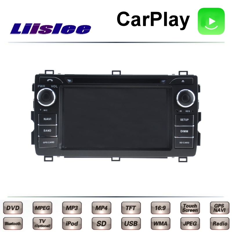 For <font><b>TOYOTA</b></font> Auris <font><b>Corolla</b></font> E140 <font><b>E150</b></font> 2006~2013 LiisLee Car Multimedia TV DVD GPS Radio Carplay Original Style Navigation Navi image