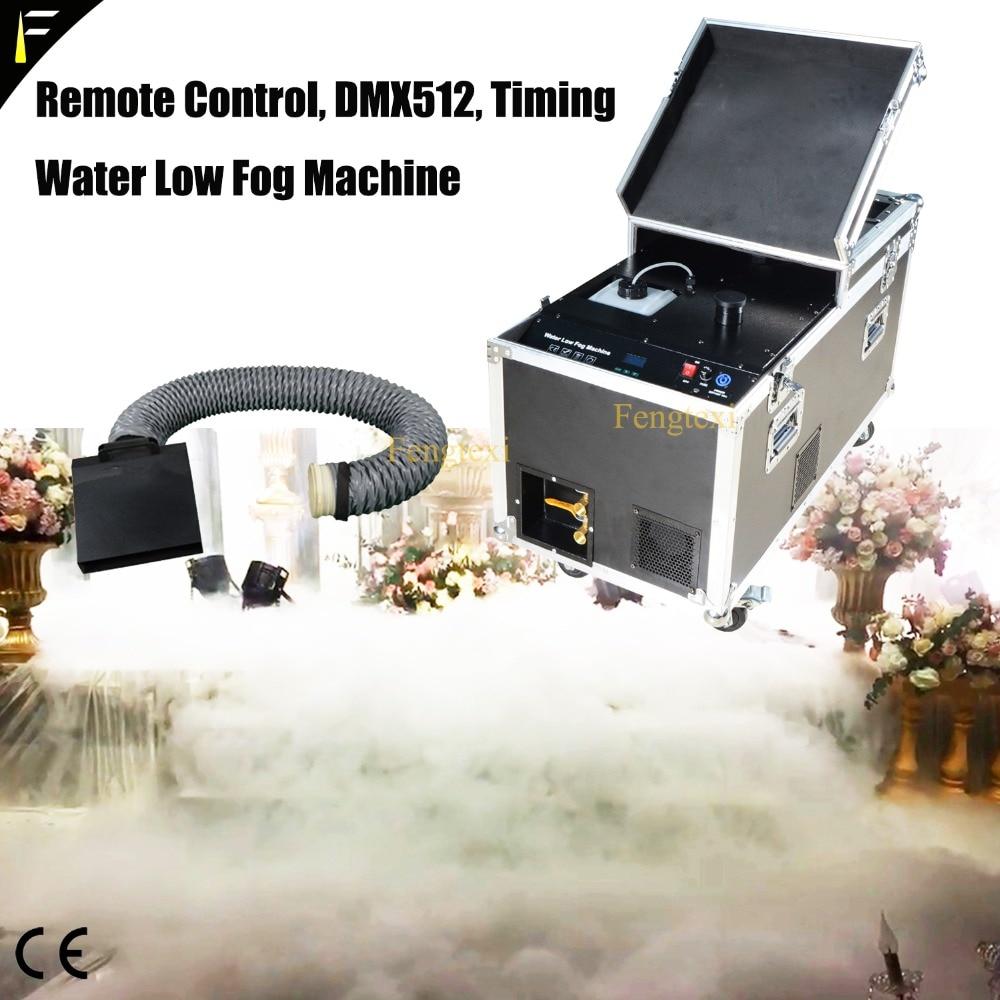 Wedding Floor Stage DMX512 3000W Water Based Fog Machine Water Liquid Mist Oil Heavy Low Fog Smoke Machine Road Case Kit Pack|Stage Lighting Effect| |  - title=