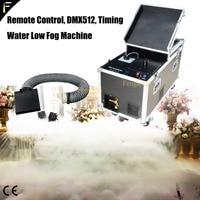 Wedding Floor Stage DMX512 3000W Water Based Fog Machine Water Liquid Mist Oil Heavy Low Fog Smoke Machine Road Case Kit Pack
