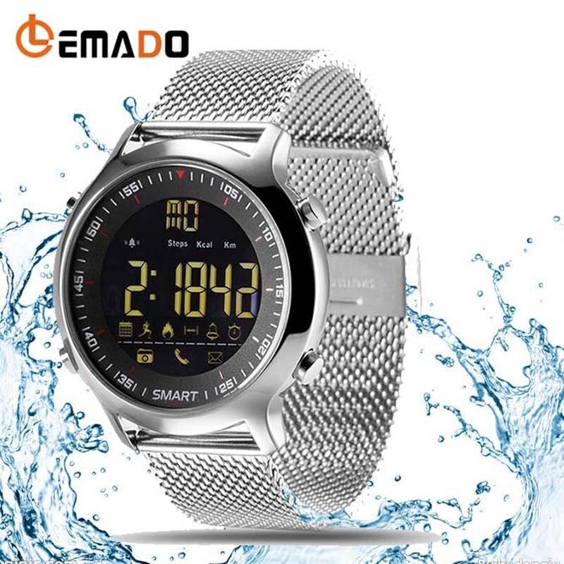 Lemado Professional Waterproof EX18 Call And SMS Alart Watch Smart EX18 Watch Smart Bluetooth makibes ex18 smart watch silver