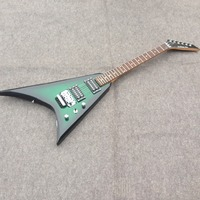 Free Cost Mahogany body greenburst Flying V Electric guitar Guitarra all color Available
