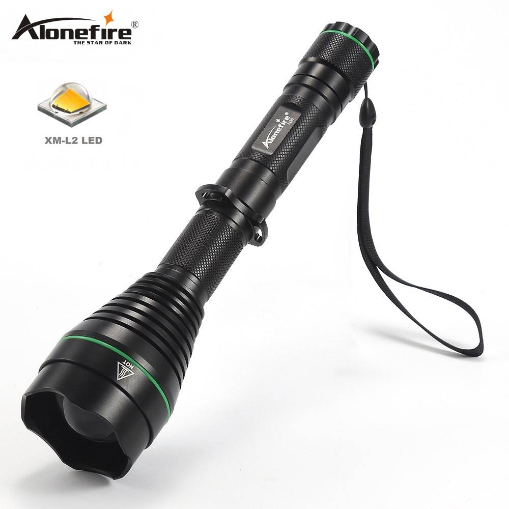 AloneFire X480 Cree XM L2 LED Flashlight Camping Torch Tactical Waterproof 5 Modes Lamp Torch For