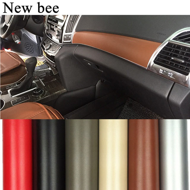 Newbee 100cmx30cm Car Styling Sticker Leather Vinyl DIY Interior Decoration Film Automobile Motorcycle Decal Wrap Dashboard