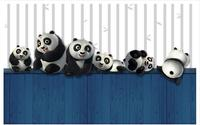 3D wallpaper cuetom mural non woven wallpaper 3 d lovely naughty play a panda TV setting wall beauty home decoration
