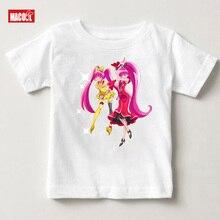 2019 Children LoliRock Magical Girls Funny T Shirt Summer Baby Cute Short Sleeve Tops Kids Casual T-shirt Free Shipping