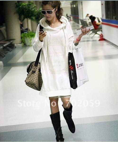 b39756492c7 White New Japan Trendy Womens Hoody Hoodie Hoodies Dress Long Top Tops  Blouse Free Shipping