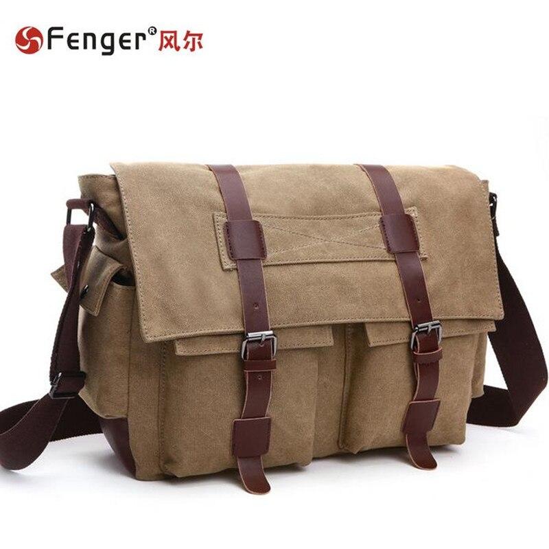 ФОТО 2016 New Design Europe style Male handbags fashion men bags messenger bag canvas Leisure shoulder bag Satchel