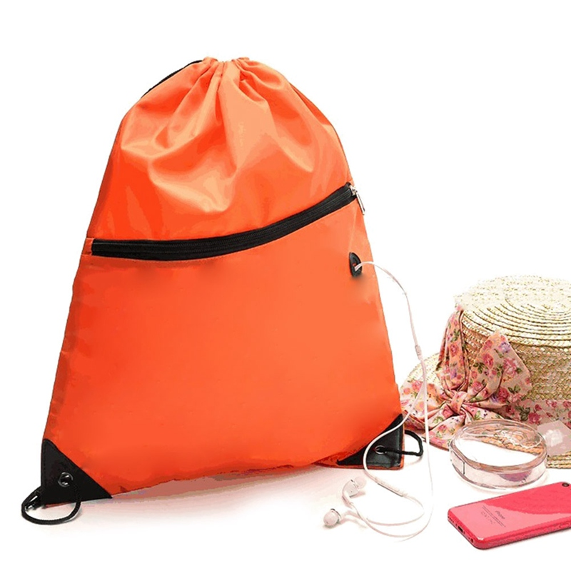 9 Colors Portable Waterproof Nylon Shoe Bags Drawstring Dust Backpacks Storage Pouch Outdoor Travel Sports Storage Gym Bags