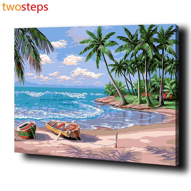 TwoSteps DIY Digital Canvas Oil Painting By Numbers Pictures Coloring By Numbers Modern Large Paint By