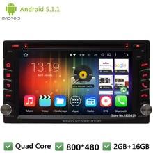 Quad Core 16GB Android 5.1.1 2Din WIFI FM BT DAB+ Universal Car DVD Player GPS Stereo Radio PC Screen For Nissan qashqai sunny