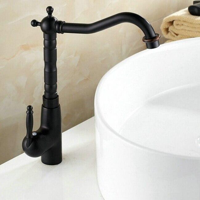 Deck Mounted Black Bronze Faucet Oil Rubber Bronze Faucet Bathroom Luxury&Elegant Mixer Taps 360 Swivel ZR263Deck Mounted Black Bronze Faucet Oil Rubber Bronze Faucet Bathroom Luxury&Elegant Mixer Taps 360 Swivel ZR263