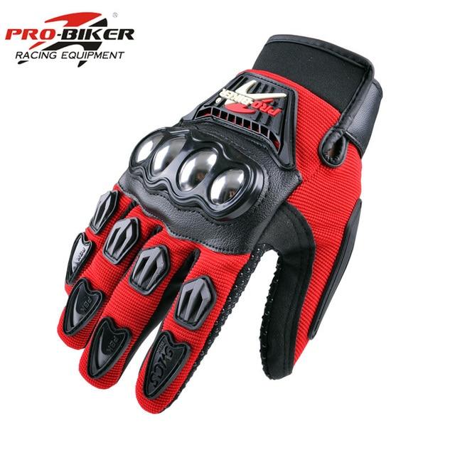 PRO BIKER Motorcycle Gloves Racing Luvas Moto Motocross Motorbike Gloves Summer Breathable Wearable Protective Guantes