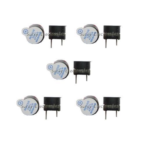 10pcs Active Buzzer Magnetic Long Continous Beep Tone Alarm Ringer 12mm 5V New