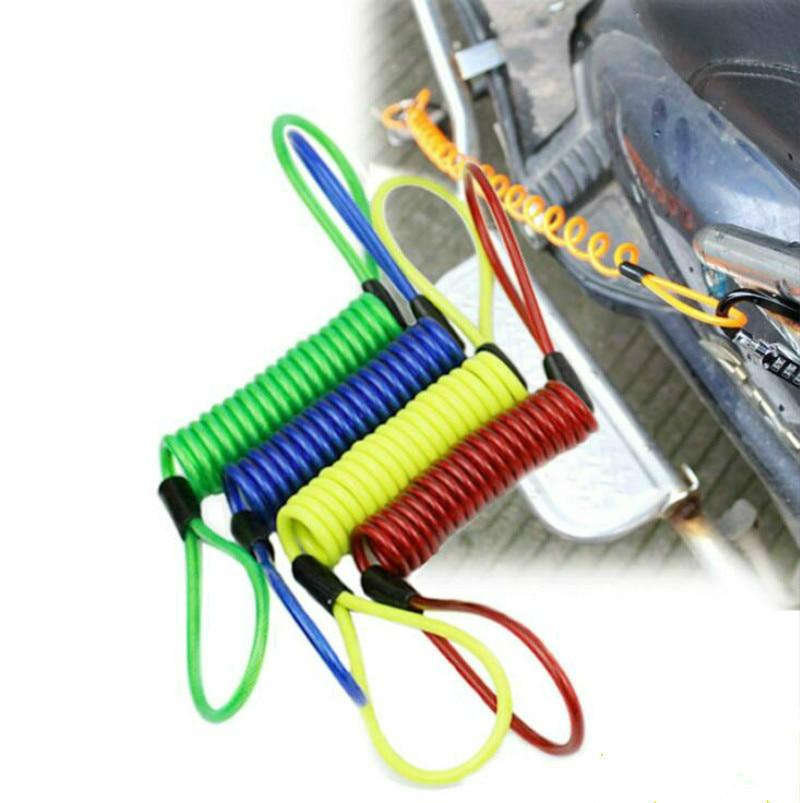 150cm Disc lock security anti thief motorcycle wheel disc brake spring cableES