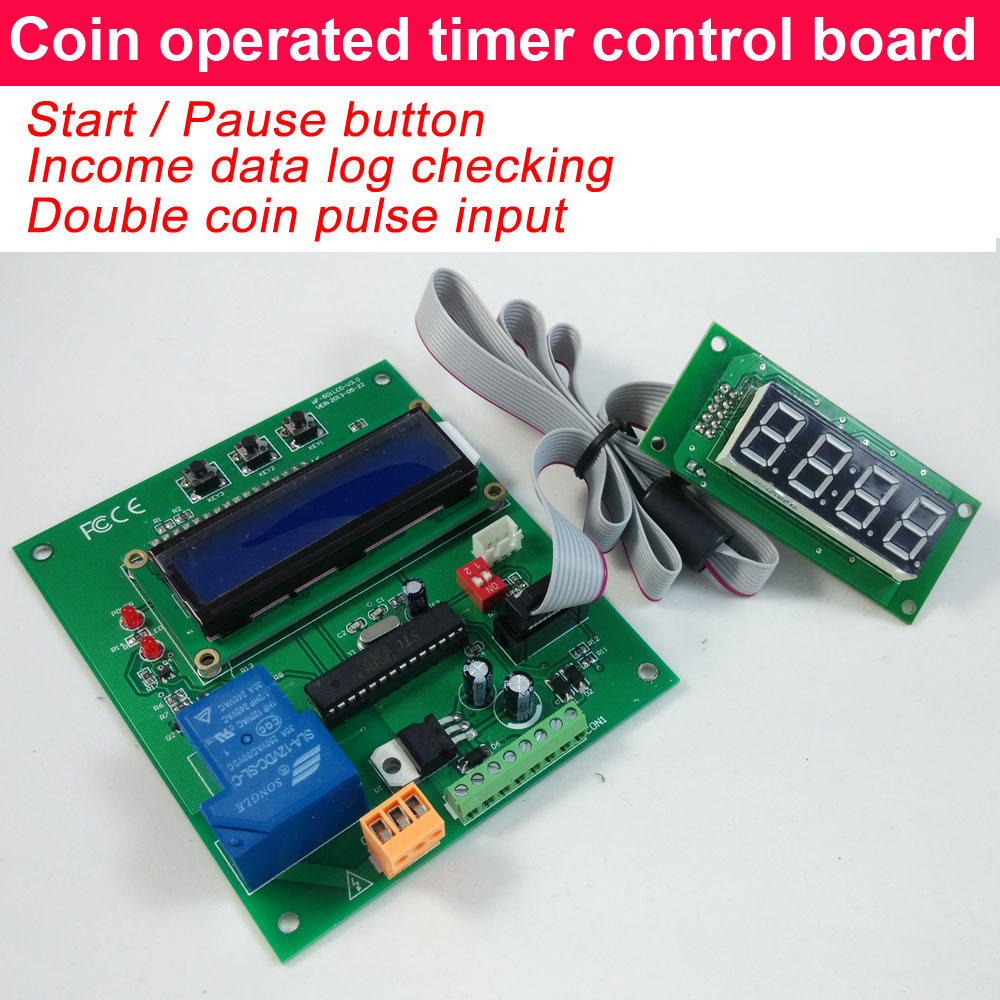 The wholesale price coin operated time control device,Big power relay output timer controller for coin acceptor-in Coin Operated Games from Sports & Entertainment    1