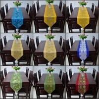 10 Kinds Of Styles Upscale Silk Brocade Table Runner Bed Flag Home Tea Table Cloth 33X200CM