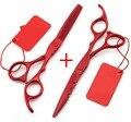 2016 Nueva 5.5 pulgadas y 6.0 pulgadas tijeras de pelo 440C adelgazamiento y conjunto de corte de tijera tijeras de peluquero tijeras de peluquería Envío gratis