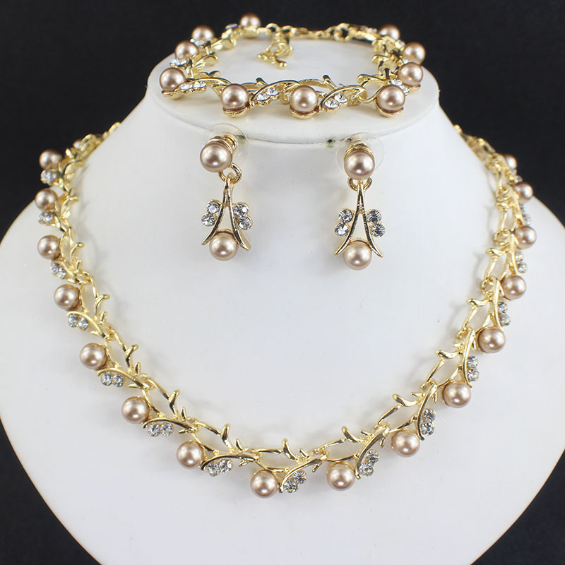 HTB1qbl8SFXXXXXLapXXq6xXFXXXt Luxurious Pearl And Crystal Wedding Party Jewelry Set - 5 Colors